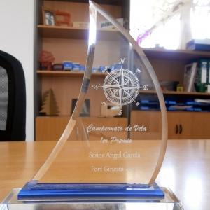 Trofeo Grabado en Cristal
