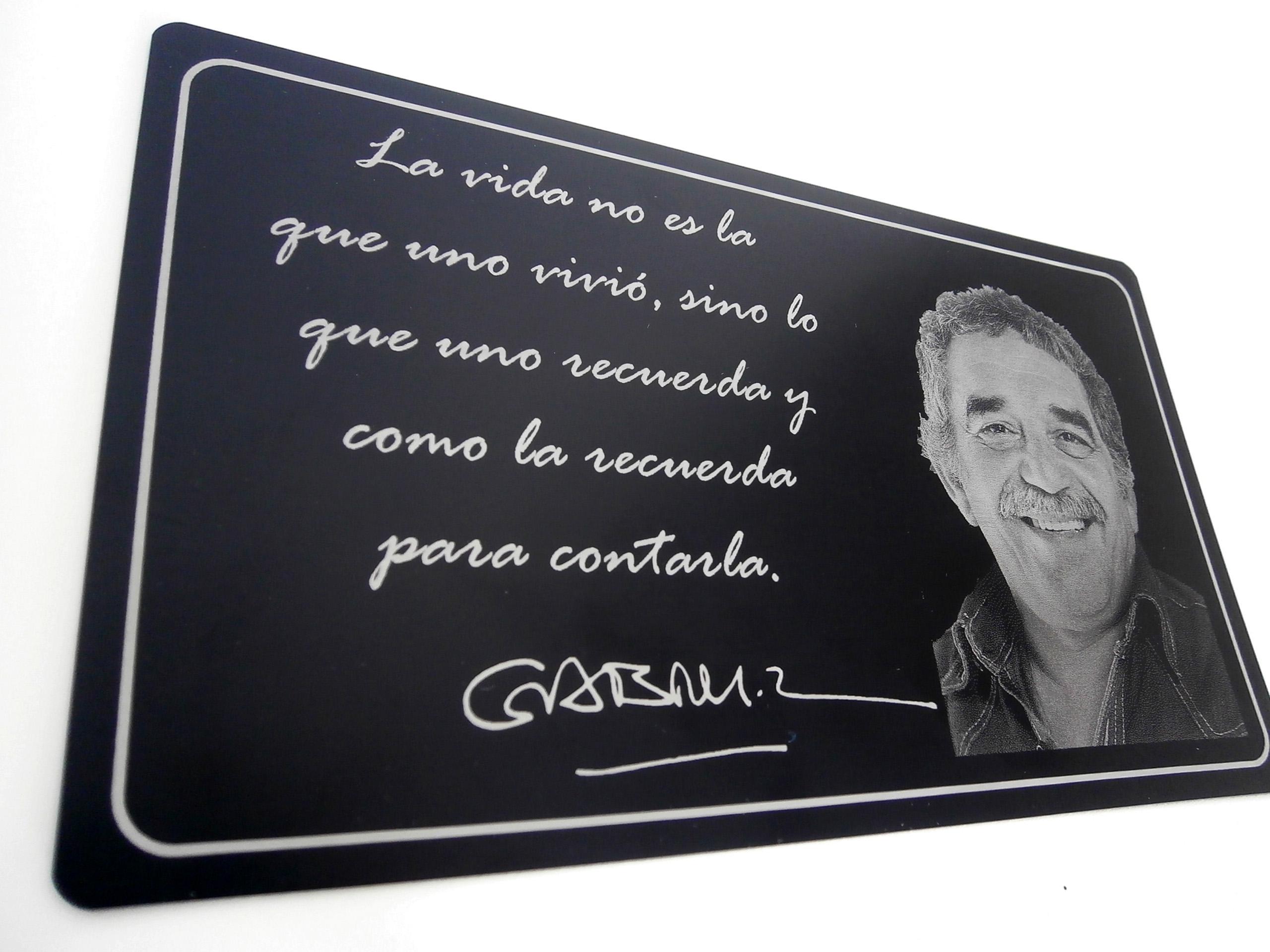 Placa Homenaje a García Marquez