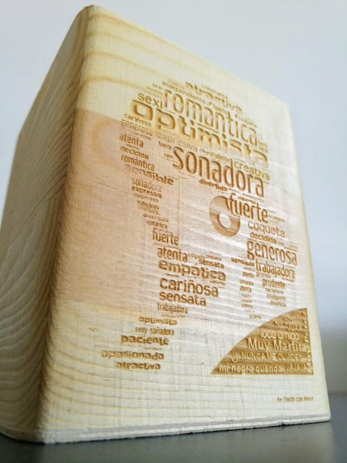Lapicero de madera grabado a Láser