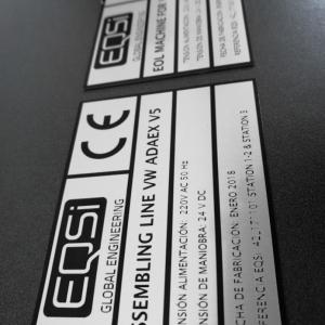 placas identificativas en aluminio anodizado
